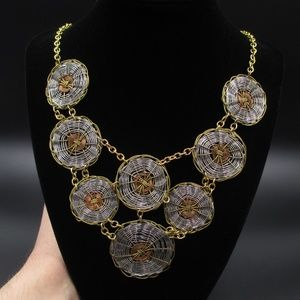 """Vintage 21"""" Cute Silver & Gold Tone Wire Necklace"""
